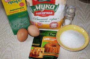 фото Ингредиенты для приготовления быстрых и пышных оладий на молоке