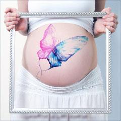 рисунки на животе у беременных фото
