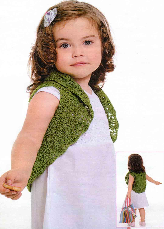 вязаное болеро спицами для девочки своими руками