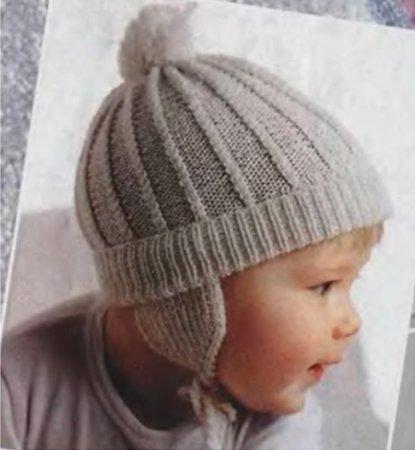 шапочка для младенца вязанея спицами фото
