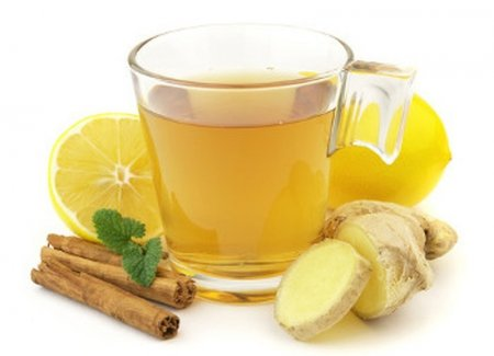 Имбирь для похудения  с чаем фото