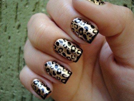 маникюр леопардовый фото