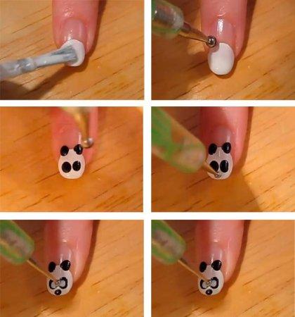 Рисунки на ногтях - пошаговое фото, инструкция, технология и особенности выполнения.