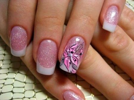 Рисунки на ногтях френч – фото