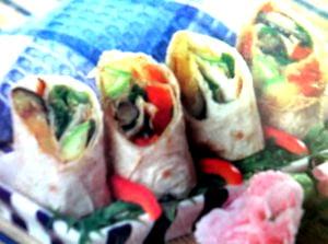 вкусных ролл с овощной начинкой фото