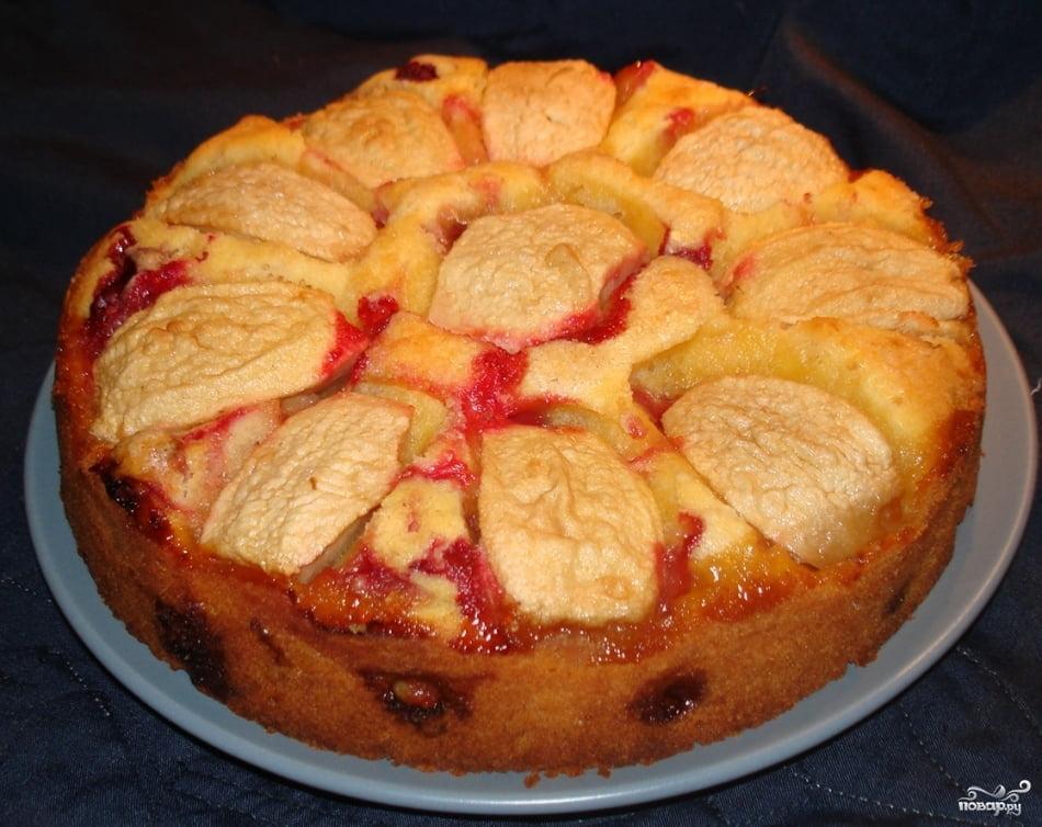 пирог со сливами на кефире в мультиварке рецепты с фото