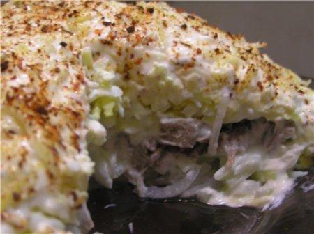 «Мужской каприз» салат – рецепт приготовления вкусной и сытной мясной закуски.