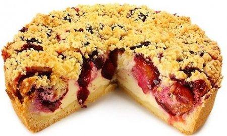 Пирог со сливой от Высоцкой. Вкусный домашний рецепт от популярной телеведущей.