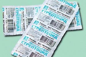 стрептоцид в таблетках фото