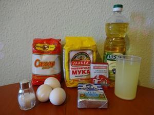 Ингредиенты для приготовления блинов на сыворотке фото