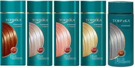 Оттеночный шампунь Тоника – палитра цветов фото