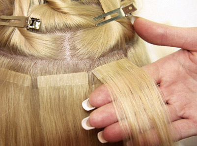 Наращивание волос ленточное фото