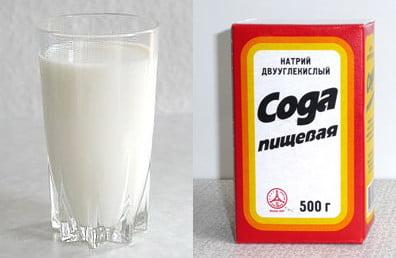 Молоко с содой от кашля детям фото