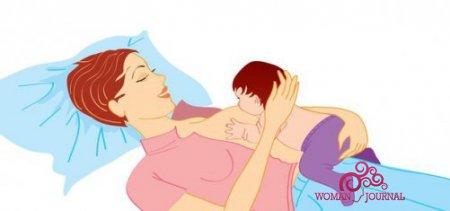 Как кормить ребенка грудью лежа